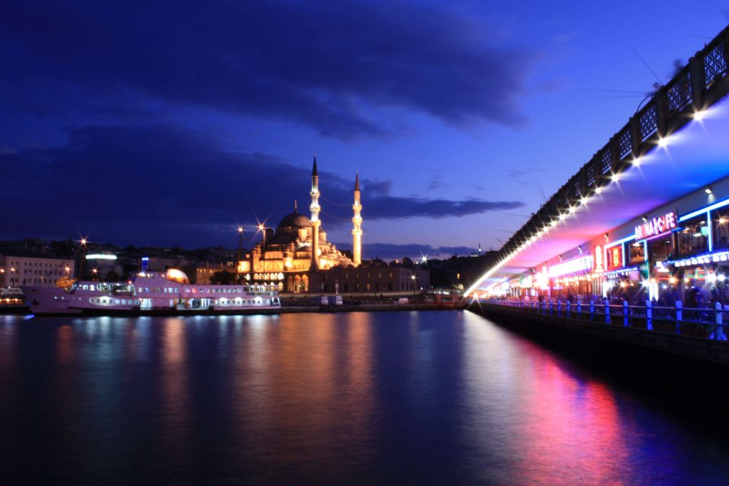 Galata Bridge at Night / Istanbul