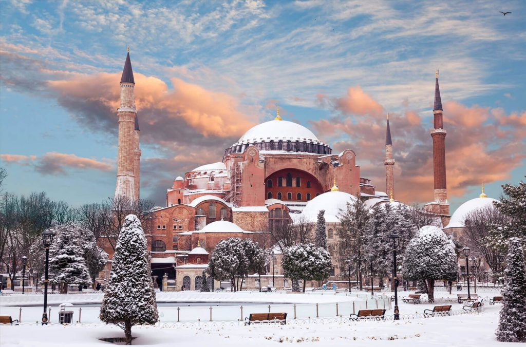 Hagia Sophia Snowing