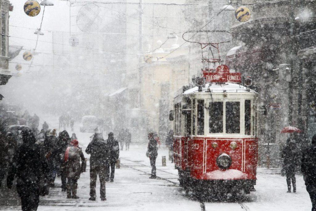Taksim - Istiklal Street Snowing